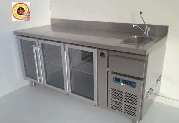 tavolo frigo con lavello