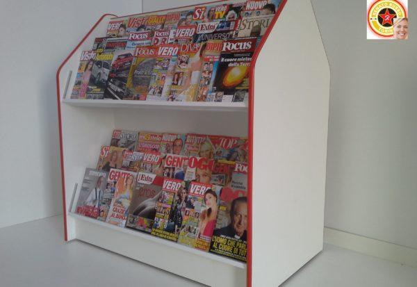 espositore per riviste bifacciale