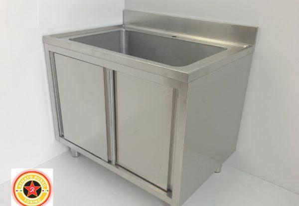 vasca grande in acciaio ino per lavaggio verdure