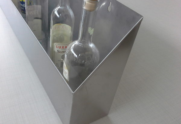portabottiglie inox par bartender