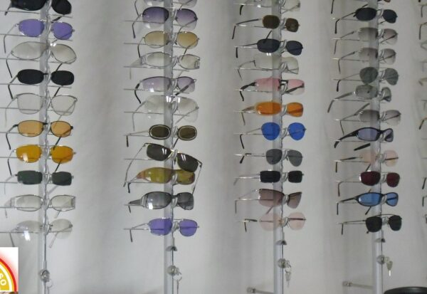 aste per esporre occhiali