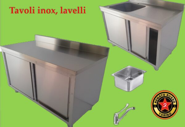 LAVELLI e TAVOLI INOX